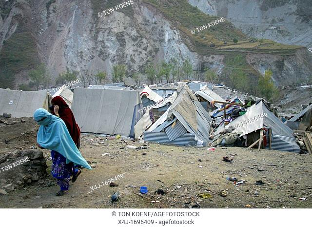 Many people did not received any aid and built some simple structures to stay dry from rain and snow The living conditions are very tough for people Muzafarabad