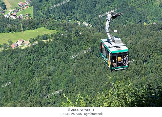 Cable Railway to mountain Karren Dornbirn Vorlaberg Austria