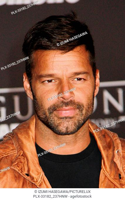 """Ricky Martin 12/10/2016 The World Premiere of """"""""Rogue One: A Star Wars Story"""""""" held at the Pantages Theatre in Los Angeles"""
