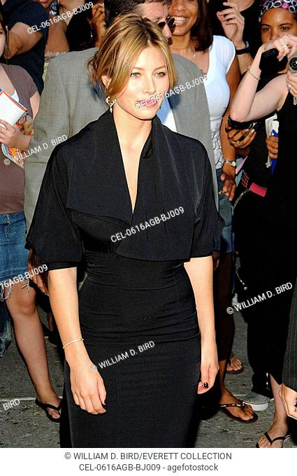 Jessica Biel at talk show appearance for The Late Show hosted by David Letterman, The Ed Sullivan Theater, New York, NY, August 16, 2006