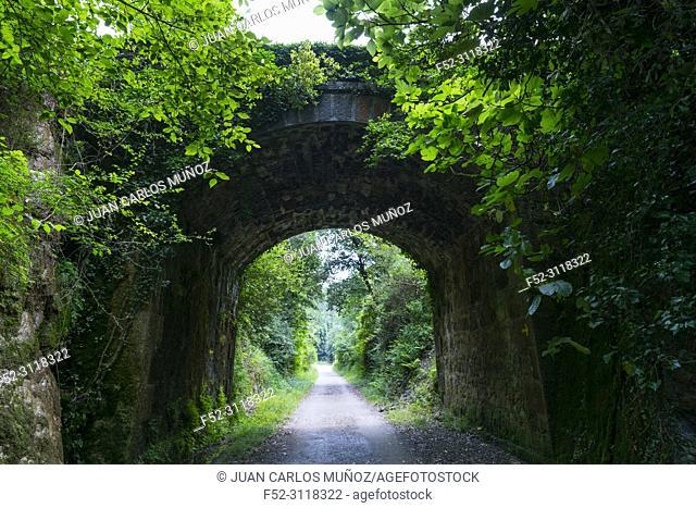 Via Verde Castro - Traslaviña, Otañes, Castro Urdiales Municipality, Cantabria, Spain, Europe