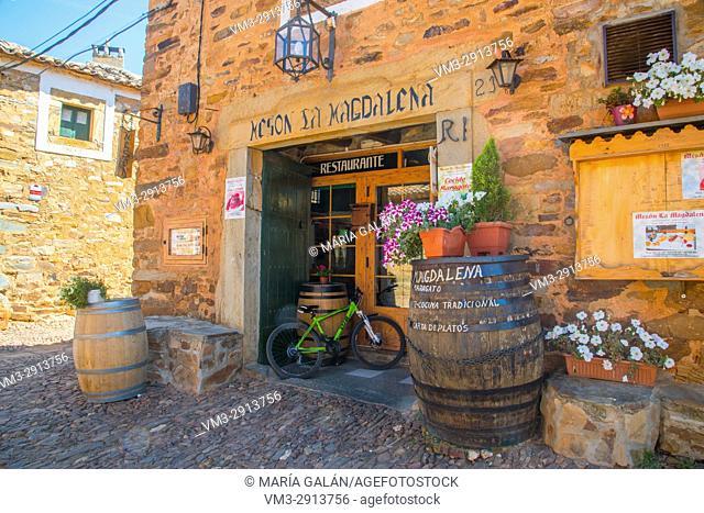 Facade of traditional meson. Castrillo de los Polvazares, Leon province, Castilla Leon, Spain