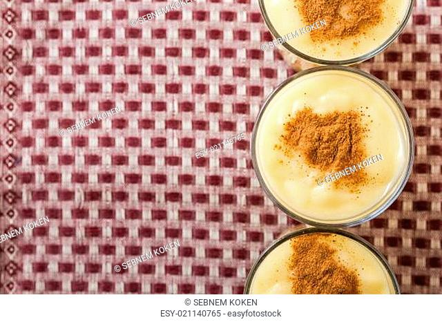 Boza or Bosa, traditional Turkish dessert