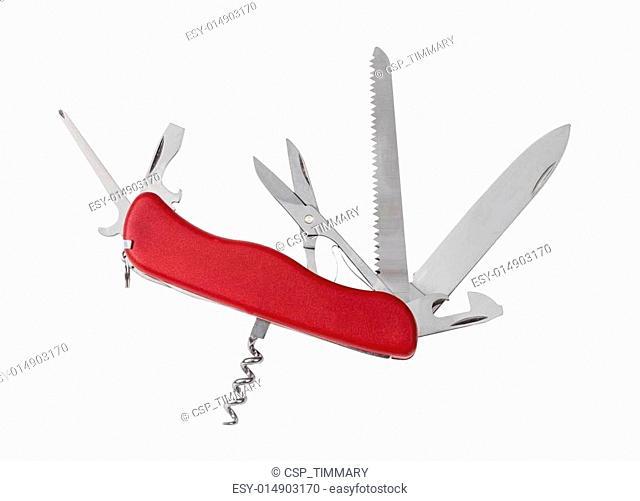 folding knife isolated on white background