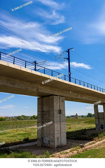 Viaduct for high speed train