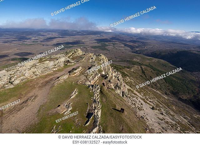 Mountain landscape in Pena the Francia, famous destination in Salamanca, Spain