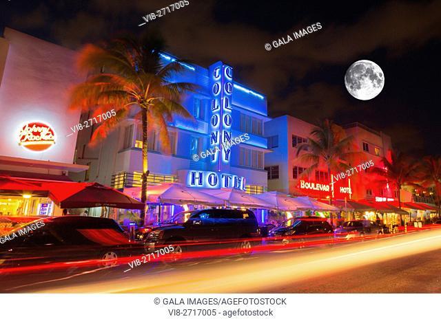 ART DECO HOTELS OCEAN DRIVE SOUTH BEACH MIAMI BEACH FLORIDA USA