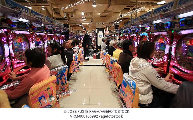 Japan, Tokyo City, Shinjuku , Dotombori entertainment District, Pachinko Parlour