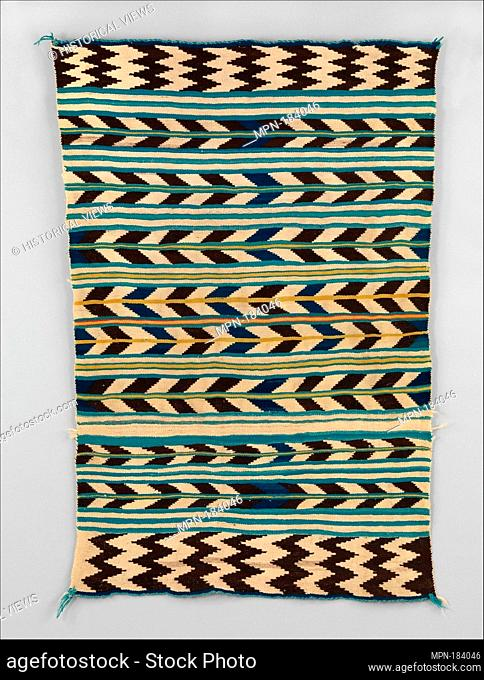 Saddle Blanket (?). Date: 1860-70; Geography: United States, Arizona or New Mexico; Culture: Navajo; Medium: Wool; Dimensions: H. 50 1/2 x W. 33 in