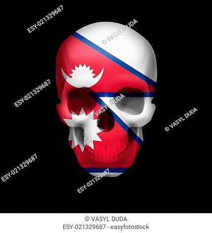 Nepalese flag skull