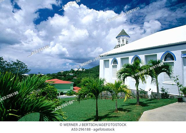 Top of the Mountain church. St. Thomas. US Virgin Islands. West Indies. Caribbean