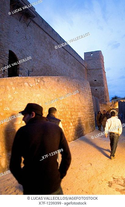 Tunez:Hammamet Medina fortress of Hammamet