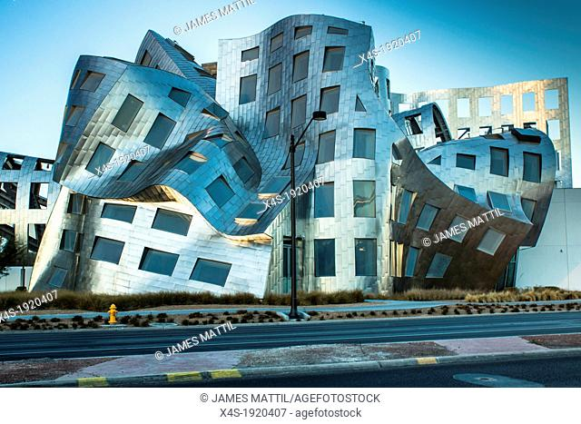 Las Vegas, Nevada -January 20, 2013: The innovative, landmark Cleveland Clinic building designed by renown modernist architect Frank Gehry helps lead the...