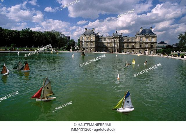 Paris, a Detailed View Louxembourg Gardens & the Senate