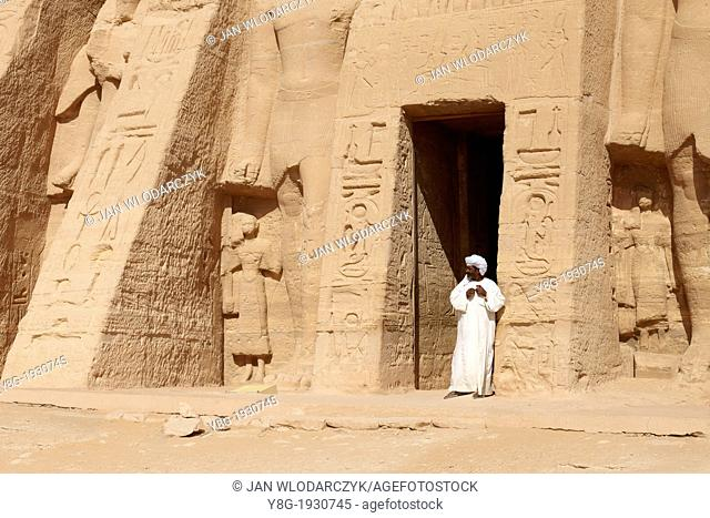 The Temple of Queen Nefertari at Abu Simbel on the shore of Lake Nasser, Lower Nubia, Egypt, Unesco