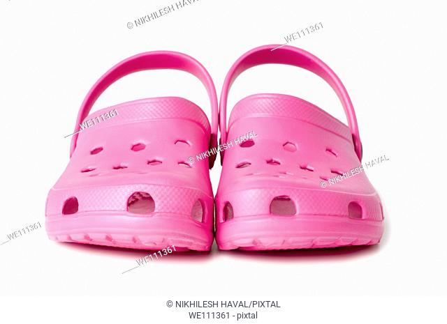Pink crocs sandals