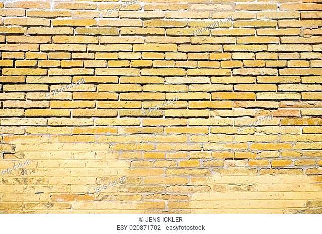 Hintergrund aus einer alten, braunen Backsteinwand