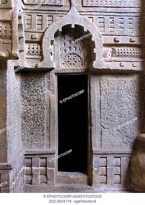 Bedse Buddhist cave. Circa 1st century BC. Maval taluka, Pune District, Maharashtra, India