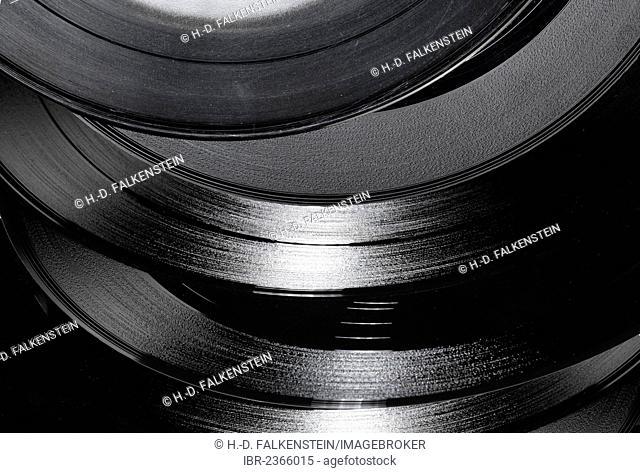 Old records, vinyl singles