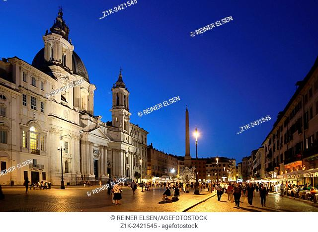 Italy. Rome. Piazza Navona Sant Agnese in Agone