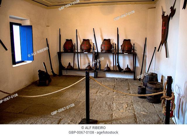Weapons, utensils, Fort St. John, built in 1547, Bertioga, São Paulo, Brazil