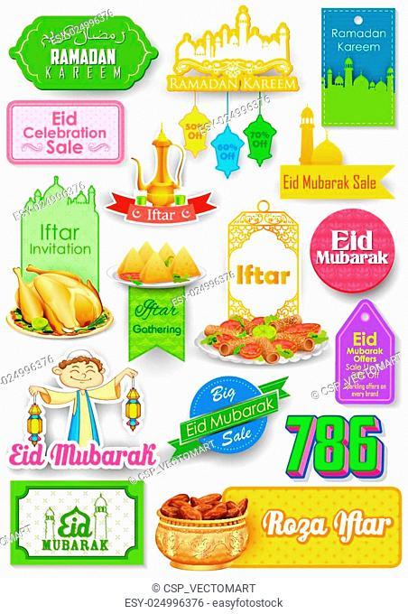 Eid Mubarak (Happy Eid) sale and promotion offer banner