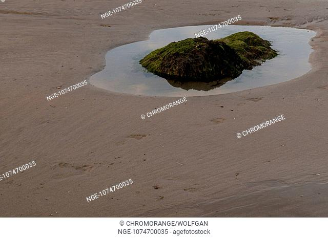 Low tide on the coast of the Presque Ille de Crozon