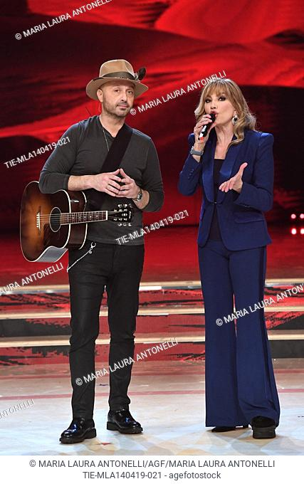Joe Bastianich, Milly Carlucci at the talent show ' Ballando con le stelle ' (Dancing with the stars) Rome, ITALY-14-04-2019