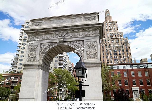 Washington Square arch New York City USA