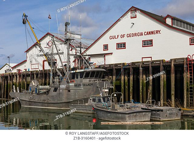 Gulf of Georgia Salmon Cannery historic site in Steveston, British Columbia