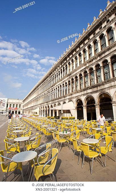 San Marcos square, Saint Marks Square, St Mark's square, Venice, Veneto, Italy, Europe
