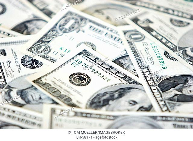 100 some US Dollar notes currency