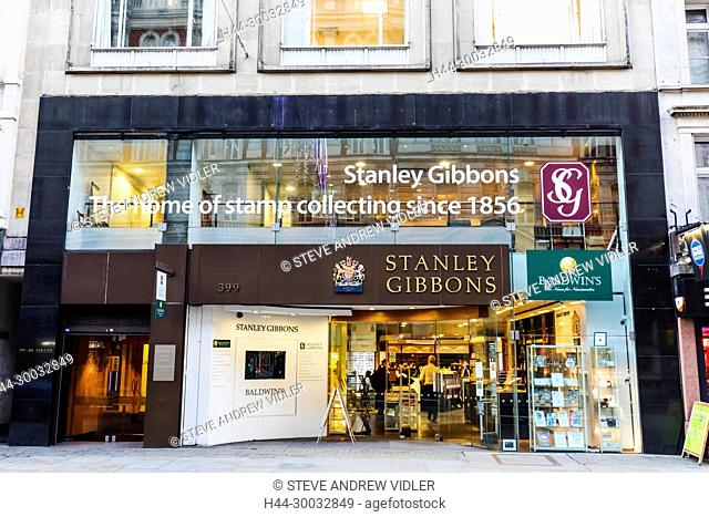 England, London, The Strand, Stanley Gibbons Store