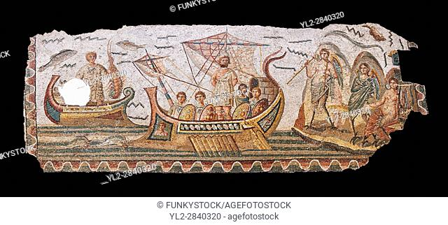 Roman mosaic depicting Ulysses resisting the songs of the Sirens on his way back from Troy. In Homers Odyssey it is told that when Ulysses returned home by ship...