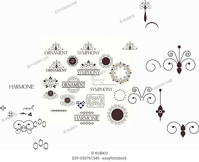 Flow chart scheme. Infographics elements. Vector design