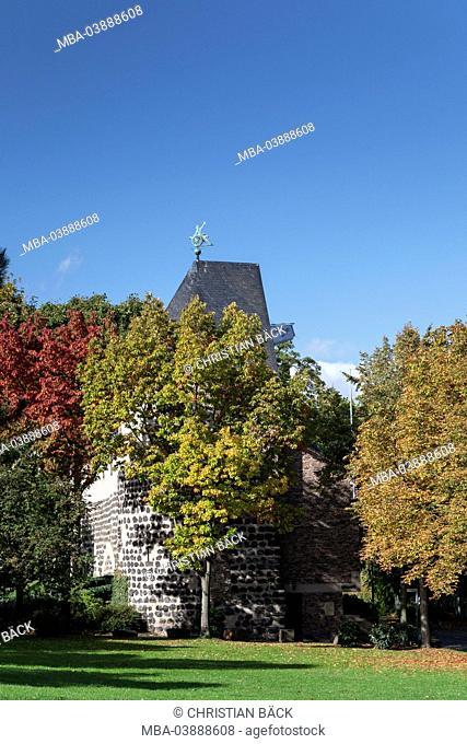 City wall at the Sachsenring, Cologne, North Rhine-Westphalia, Germany