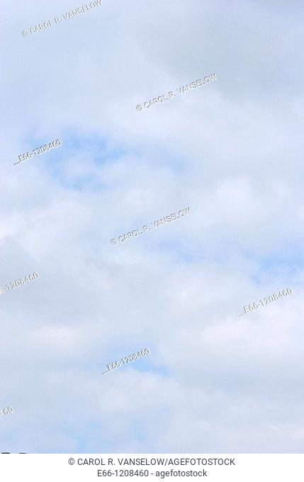 light blue sky with clouds with even colours to used for background