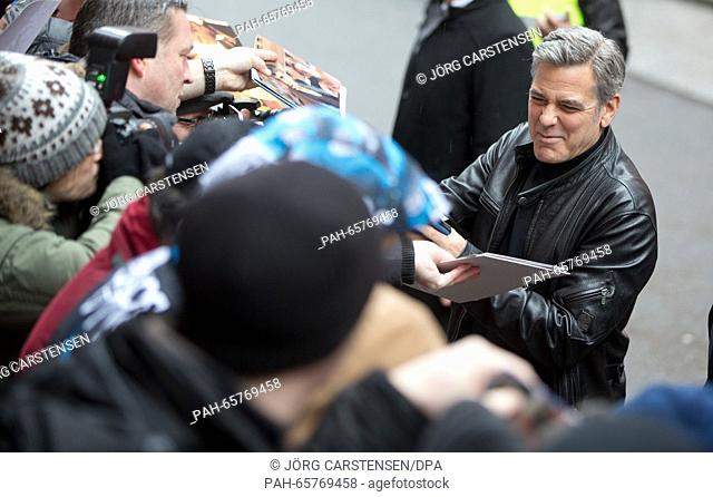 66th International Film Festival in Berlin, Germany, 11 February 2016. Photo call -Hail Ceasar!-: George Clooney. The film is out of competition