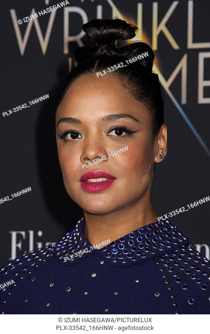 "Tessa Thompson 02/26/2018 The World Premiere of """"A Wrinkle in Time"""" held at El Capitan Theatre in Los Angeles, CA Photo by Izumi Hasegawa / HNW / PictureLux"