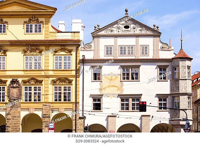 Czech Republic, Prague - Houses at Lesser Quarter Square
