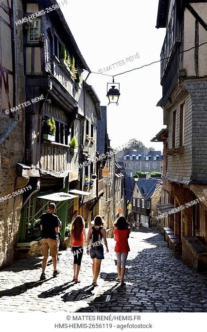France, Cotes d'Armor, Dinan, the old town, Jerzual street