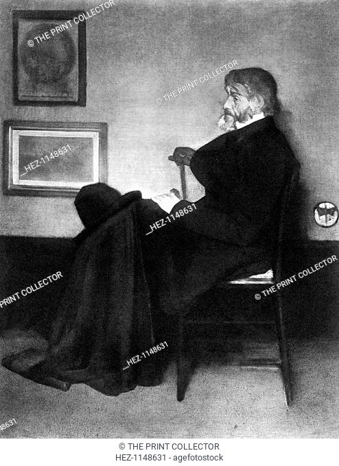 Thomas Carlyle, Scottish essayist, satirist, and historian, c1873. Portrait of Carlyle (1795-1881)