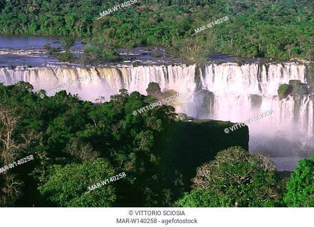 brazil, parana', iguazu' falls