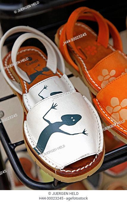 Spain Menorca Mahon old city center hand made sandals