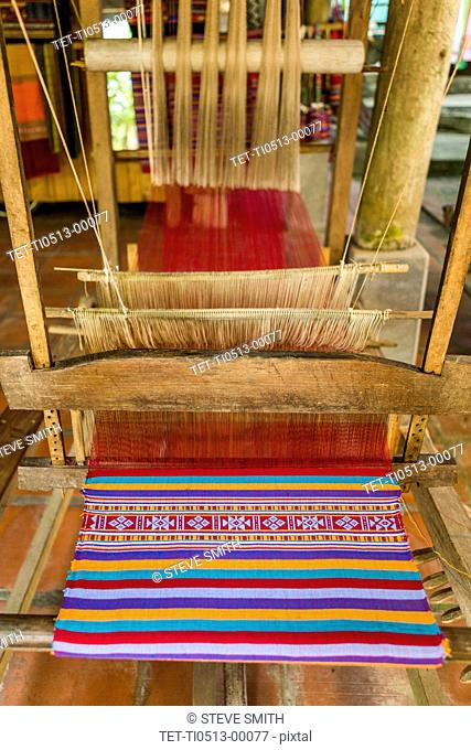 Loom in textile factory