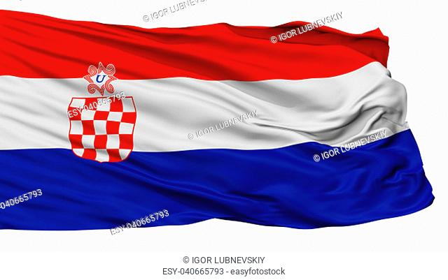Independent State Of Croatia War Flag, Isolated On White Background