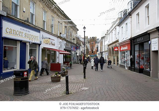 newmarket street in Ayr town centre scotland uk