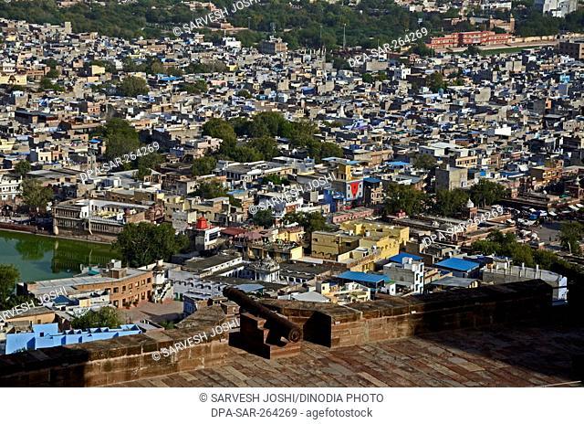 cannon at Mehrangarh Fort, Jodhpur, Rajasthan, India, Asia