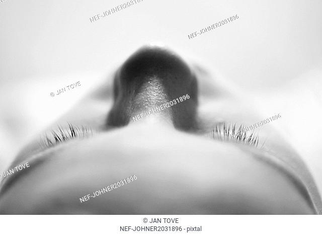 Womans face, close-up