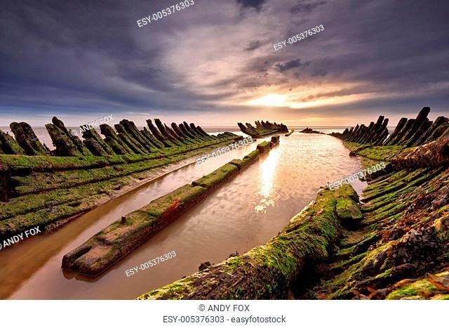 The Burnham on sea shipwreck